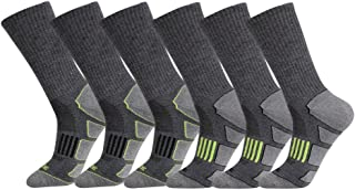 JOYNÉE Mens 6 Pack Athletic Cushion Crew Socks Performance Running Socks