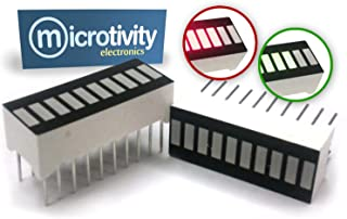 microtivity IS608 10-Segment LED Display (1 Red and 1 Green)