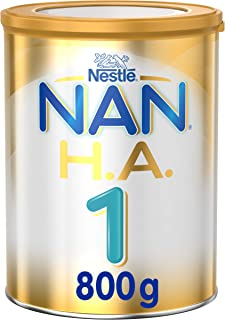 Nestlé NAN H.A. Stage 1, From birth to 6 months, Hypoallergenic Starter Infant Formula Fortified with Iron 800g