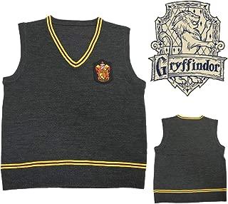 (LuluLAB) ハリーポッター ホグワーツ ベスト/セーター コスプレ 衣装 (L, グリフィンドール)