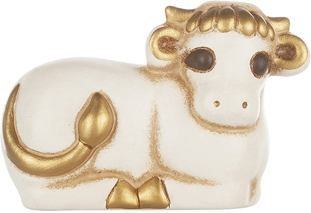 Thun® - bue bianco - statuine presepe classico -in  ceramica S515A83