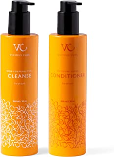 Sponsored Ad - Vicious Curl Non-Foaming Curl Cleanse and Moisture Surge Conditioner Kit - Clarifying Shampoo and Deep Cond...