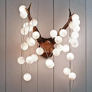 Gladworts LED Balls String Light 10ft Warm White Battery Operated, Children's Night Lights Bedroom Decor Newborn Gift Fairy String Light, Garden Party Home Wedding Strip Decor