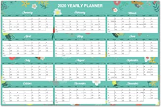 2020 YearlyWallCalendar - 2020 Wall Calendar with Thick Paper, Pocket, 34.8