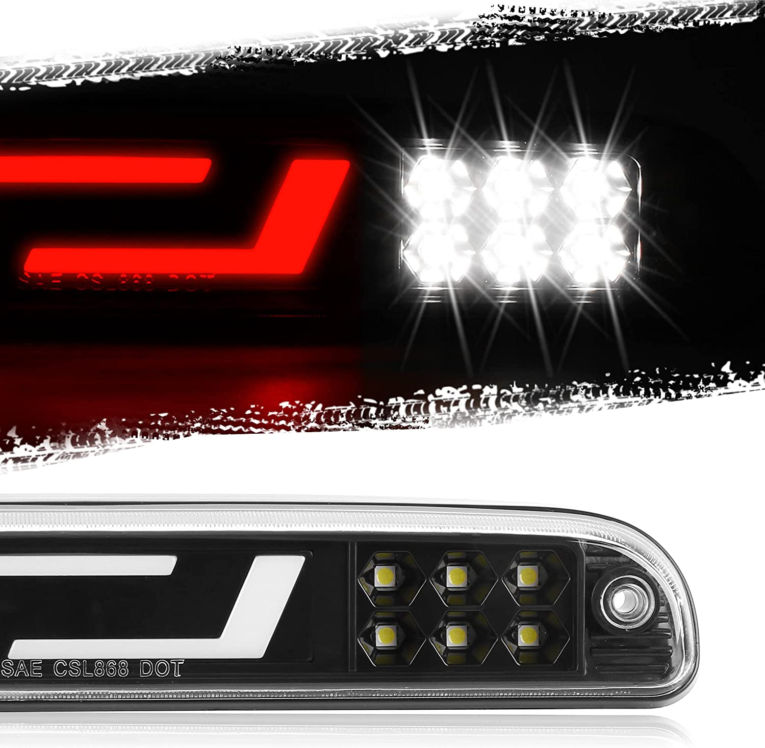 Now free shipping KRSCT fit for Tail High Mount 3rd Light Ford Brake LED Third Ranking TOP8 F-2