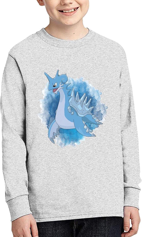 Poke Lapras T Shirt Children'S Shirts Crewneck Long Sleeve Sweatshirts Teenager Tshirts For Boy Tops