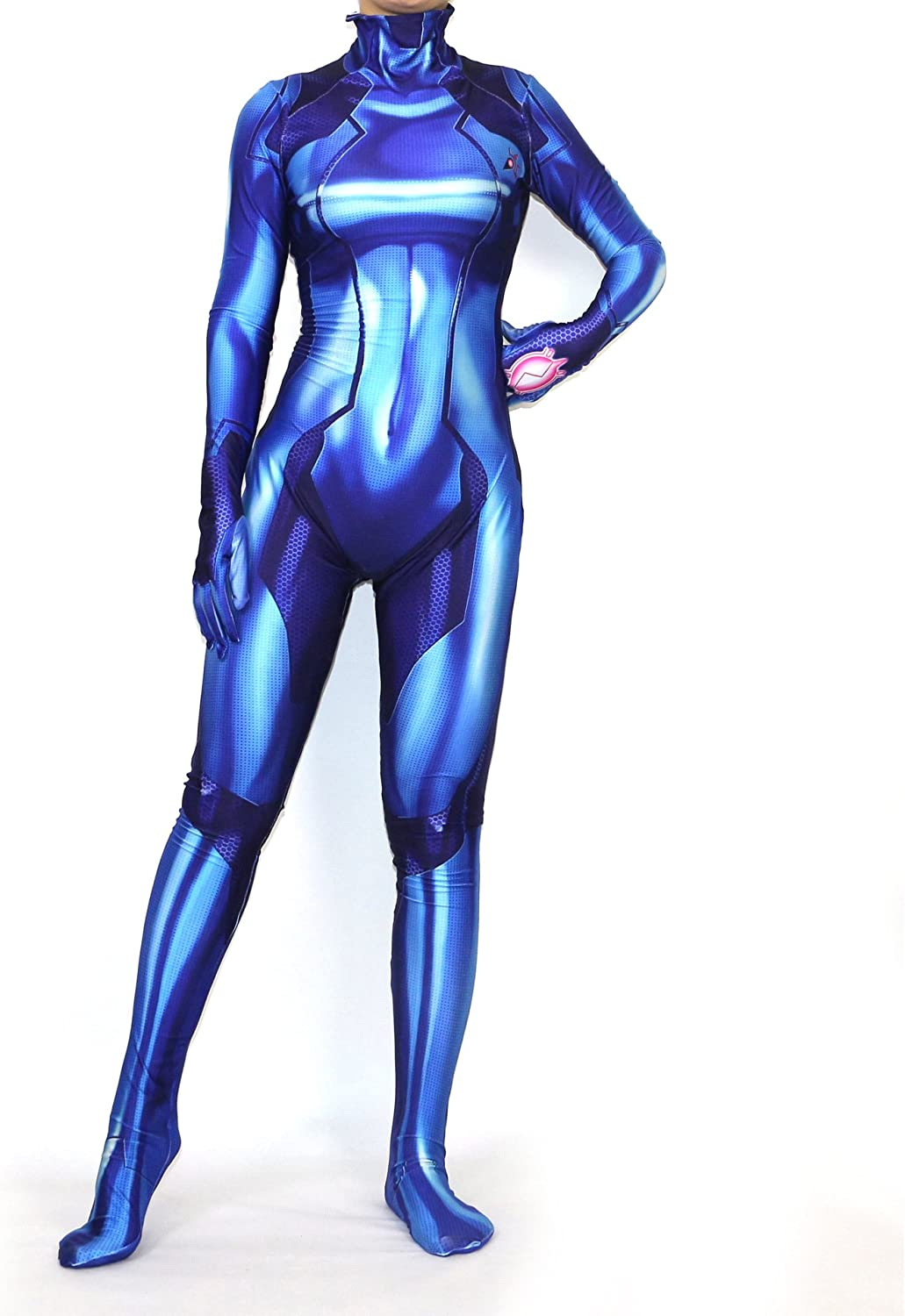 Sexy Women Patent Halloween Catsuit Jumpsuits Club Clothing
