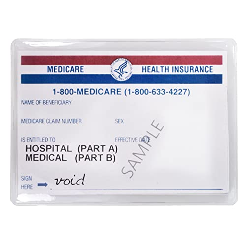 Large Credit Card Protector Sleeve Original-Medicare-Card Clear 6 Mil (24)