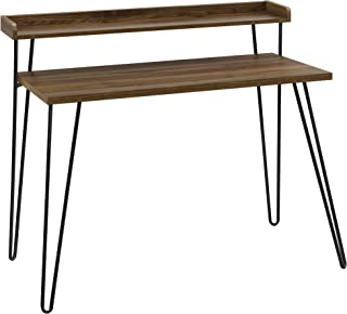 Ameriwood Home Haven Retro Desk with Riser, Walnut