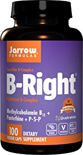 Jarrow Formulas B-right Complex, Supports Engery, Brain and Cardiovascular Health, 100 Veggie Caps