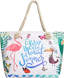 Ladies Tote Bag (Summer Tropical Rhinestones)