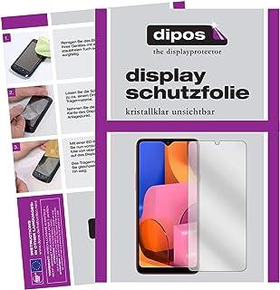 dipos I 5X skyddsfolie kompatibel med Samsung Galaxy A20s displayskyddsfolie klar (mindre än glaset, eftersom detta är välvd)