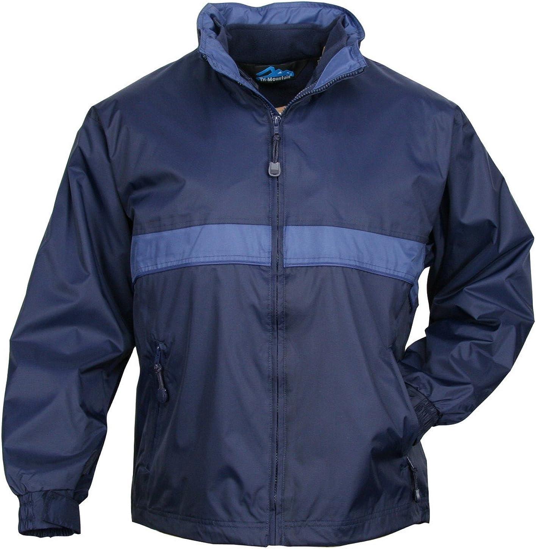 Tri-Mountain 7950 Mens waterproof nylon 3-in-1 jacket - Navy / Mountain Blue - L