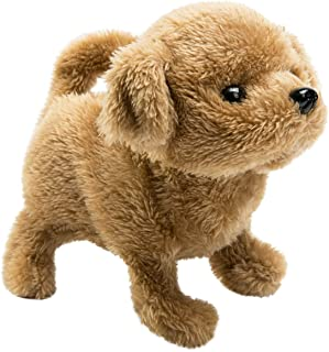 HollyHOME Plush Toy Poodle Electronic Interactive Toy Walking,Barking,Wagging Tail,Stretching Puppy Dog 7 Inches Gifts for Kids