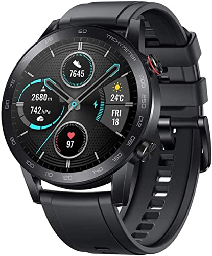 HONOR Magic Watch 2 Montre Connectée 46mm Smartwatch AMOLED Bracelet Connecté Podometre Femmes Homme Montre Intellige...