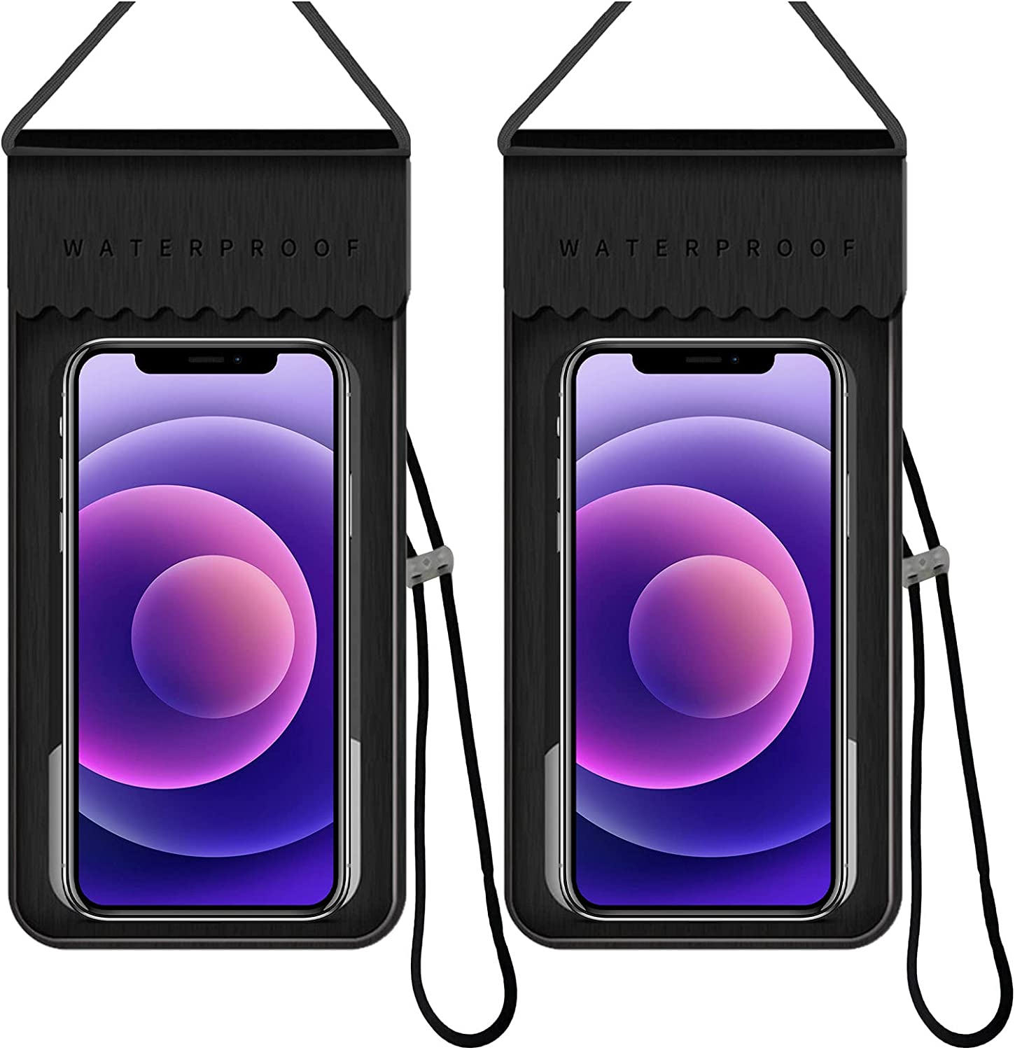 Universal Waterproof Case, IPX8 Cellphone Dry Bag Pouch for iPhone 12/12 Pro Max/11/11 Pro/SE/Xs Max/XR, Touchscreen Waterproof Phone Pouch for Samsung S21/S20 Ultra/Note20/10 up to 7