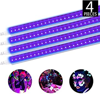 Brillihood LED UV Black Light Fixture, 20W, 4FT T5 Integrated Tube lamp, Fluorescent Blacklight Bulb for Poster, Party, Club, Festivals, Led Stage Lighting with Built-in ON/Off Switch, 4-Pack