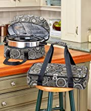 3-Pc. Carrier Bags for Slow Cookers, Casserole Dishes for Food - Black Medallion