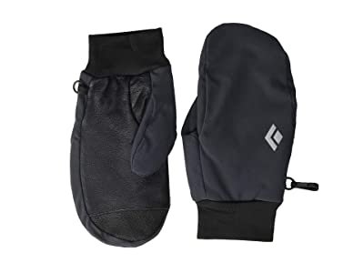 Black Diamond Midweight Softshell Mitts (Smoke) Ski Gloves