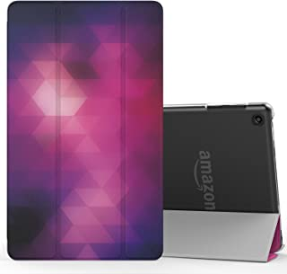 MoKo Case for Fire HD 8 2016 Tablet - Lightweight Slim Shell Stand Cover with Translucent Frosted Back for Fire HD 8 (Previous 6th Gen-2016 Release ONLY), Fantasy Diamond (NOT FIT 7th Gen 2017 Tablet)