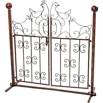 Cancello di Recinzione con Paletti//cancello per Giardino 350x140 cm in Acciaio Verde Festnight