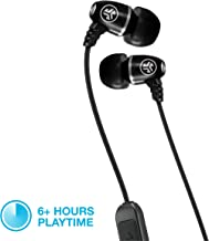 JLab Audio Metal Bluetooth Wireless Rugged Earbuds | Titanium 8mm Drivers | 6 Hour Battery Life | Noise Isolation | Bluetooth 5.0 | IP55 Sweat Proof Rating Extra Gel Tips & Cush Fins | Black