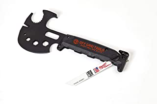 Off Grid Tools OGT-SA100 Survival Axe Elite Multitool-Made In the USA, Black and Gold