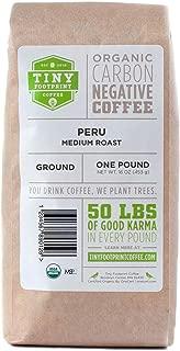 Tiny Footprint Coffee - Fair Trade Organic Peru APU Medium Roast | Ground Coffee | USDA Organic | Fair Trade Certified | Carbon Negative | 16 Ounce