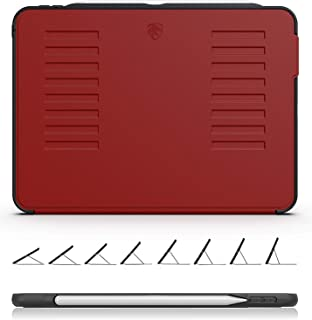 ZUGU CASE - 2018 iPad Pro 11 ケース The Muse Case 極薄 落下衝撃保護 8段階スタンド機能 オートスリープ スマートカバー (レッド)