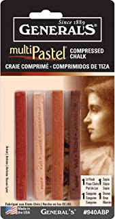 General Pencil Company Compressed Pastel Chalk 4-Pack: Earth Tones