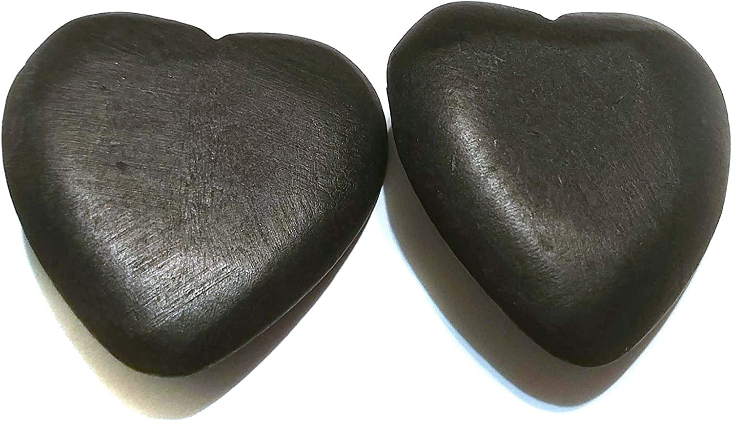 Clip-on Earrings Large Heart Wood Earrings Brown and Black 2 inch Non Pierced