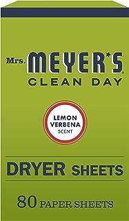 Mrs. Meyer's Clean Day Dryer Sheets, Lemon Verbena Scent, 80 count