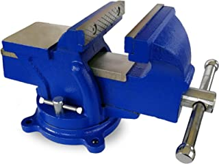 LiusTech Bench Vise 4 Inch Heavy Duty 360-Degree Swivel Base and Anvil Bench Vice