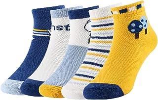 5 pares Niños Niñas Calcetines de Algodón Calcetines de Lindo Cómodo para otoño 3-7 Años