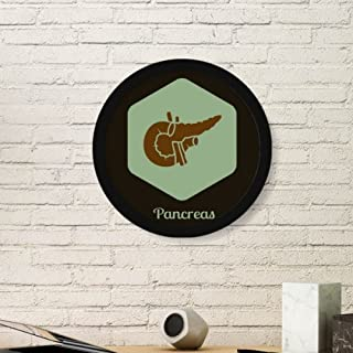 DIYthinker Body Internal Organs Pancreas Round Picture Frame Art Prints of Paintings Home Wall Decal Gift