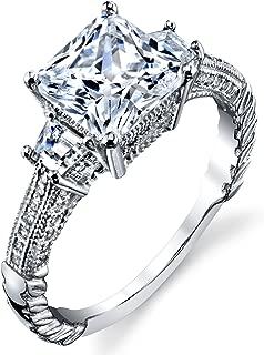 3 carat princess cut ring
