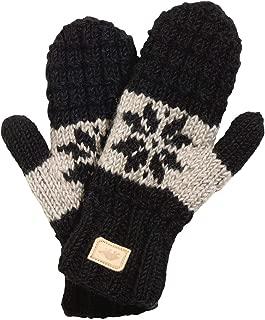 Nepal Women's Mani Hand Knit Wool Fleece Lined Mittens