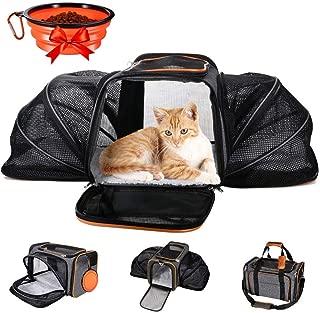 Starter Bolsa de Transporte Perros Gatos Mascotas Viaje Medidas Transportin Perro Gato 36cm*22cm*20cm Aprobadas por la Compa/ñ/ía A/érea Operadora Gris