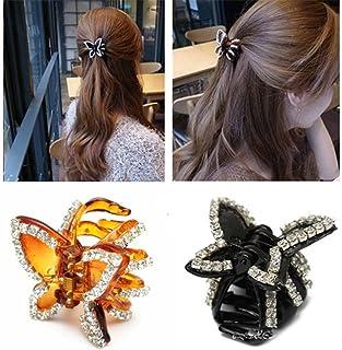 Women Butterfly Crystal Rhinestone Hair Claw Clip Hairpin Hair Accessories Q4H6