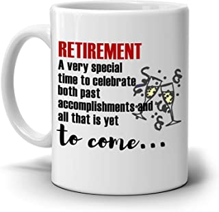 Inspirational Retirement Gift for Retired Coworkers Boss Men and Women Retirees Coffee Cup, Printed on Both Sides!