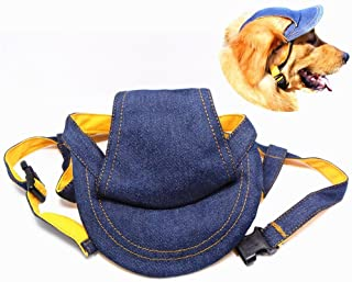 Pet Dog Outdoor Cap Cool Denim Hat - Summer Sun Protection Cap for Dog Doggy (Large)