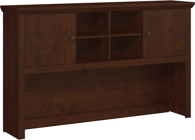 Sale item Bombing new work Bush Furniture Yorktown 60W Antique Hutch Cherry