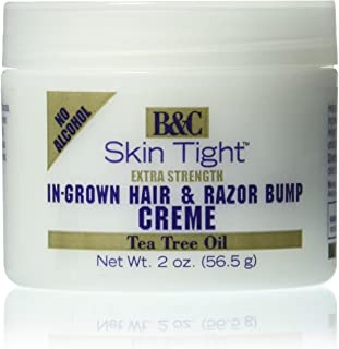 B&C Skin Tight In-Grown Hair and Razor Bump Creme Extra Strength, 2 Ounce