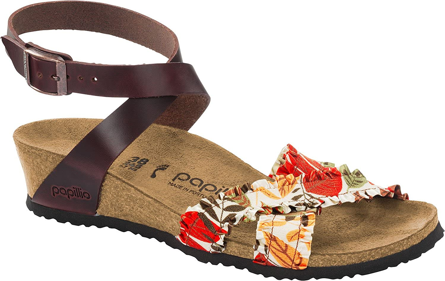 Papillio Lola Frills Stretch Leather Flower Frills - The shoes for Women, Made from Textile with a Sole Made of Rubber.