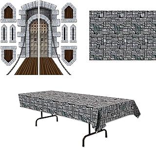 Stone Castle Medieval Tablecover Props Backdrop 11 Piece Bundle