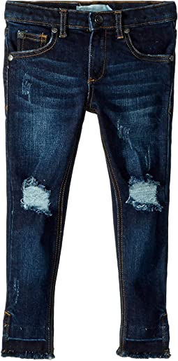 Dark Washed Distressed Hanna Jeans (Toddler/Little Kids/Big Kids)
