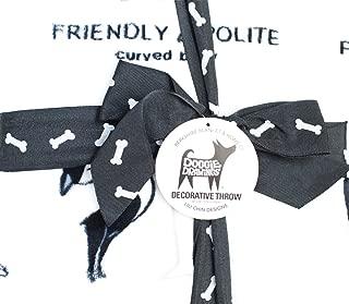 Berkshire Blanket Doggie Drawings White Plush Throw Blanket - Lili Chin Designs