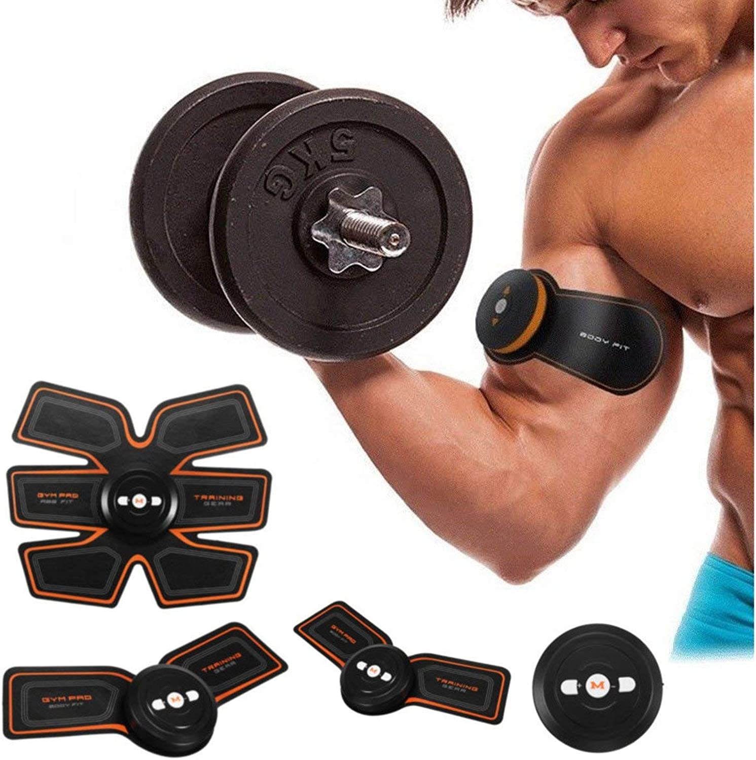 GEOPONICS S EMS Muscle ABS Fit TrainingAbdominal Body Home Exercise Shape Fitness Set