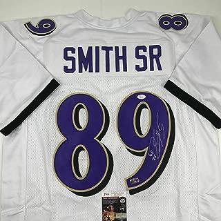 Steve Smith Signed Jersey - SR White COA - JSA Certified - Autographed NFL Jerseys