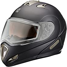 Polaris New OEM Matte Black 1.0 Modular Snowmobile Helmet, Large, 286855706